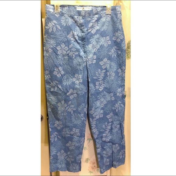 Tommy Hilfiger Pants - Tommy Hilfiger Blue Floral Golf Pants